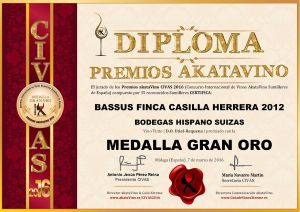 Bassus Finca Casilla Herrera 2012 Diploma Medalla GRAN ORO CIVAS 2016 © akataVino.es