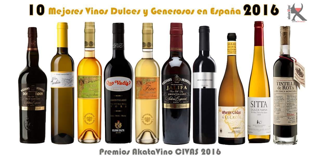 Cartel 10 Mejores Dulces Generosos España blanco © akatavino.es web