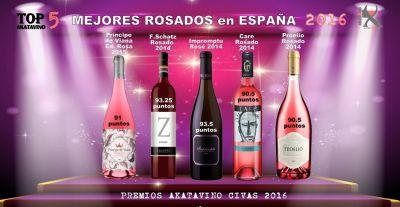 Los 5 Mejores Rosados de España 2016 Guia AkataVino
