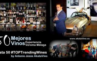 Cartel 50 Mejores Vinos Experiencia Verema Malaga AkataVino.es