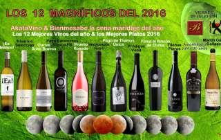 Cartel Cena Maridaje los 12 Magníficos de Akatavino y Bienmesabe