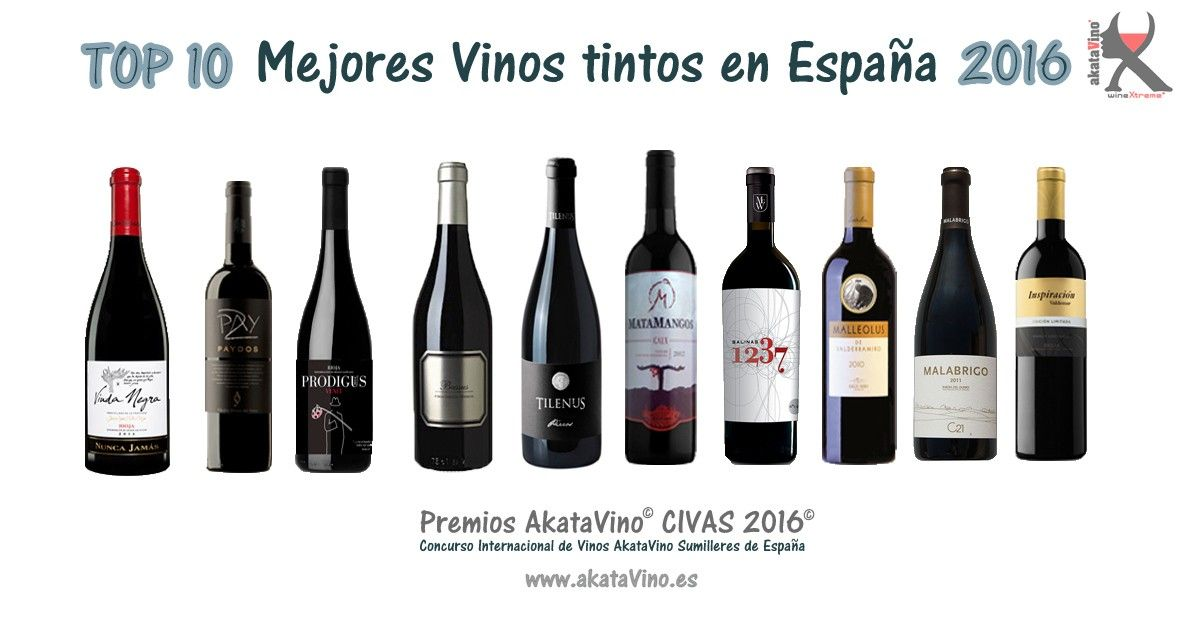 Top 10 Mejores Vinos Tintos En Espa 241 A 2016 Premios