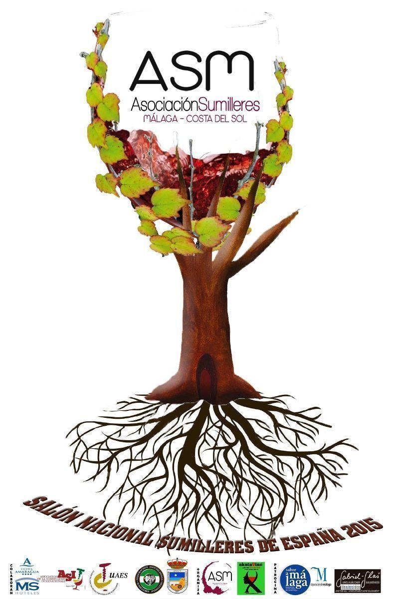 Cartel Salon Nacional de Vinos Sumilleres de España © akataVino 2015 web