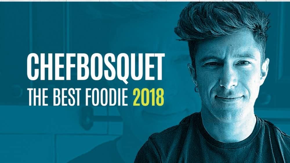 Chef Bosquet, elegido foodie del año en el Concurso The Best Foodie