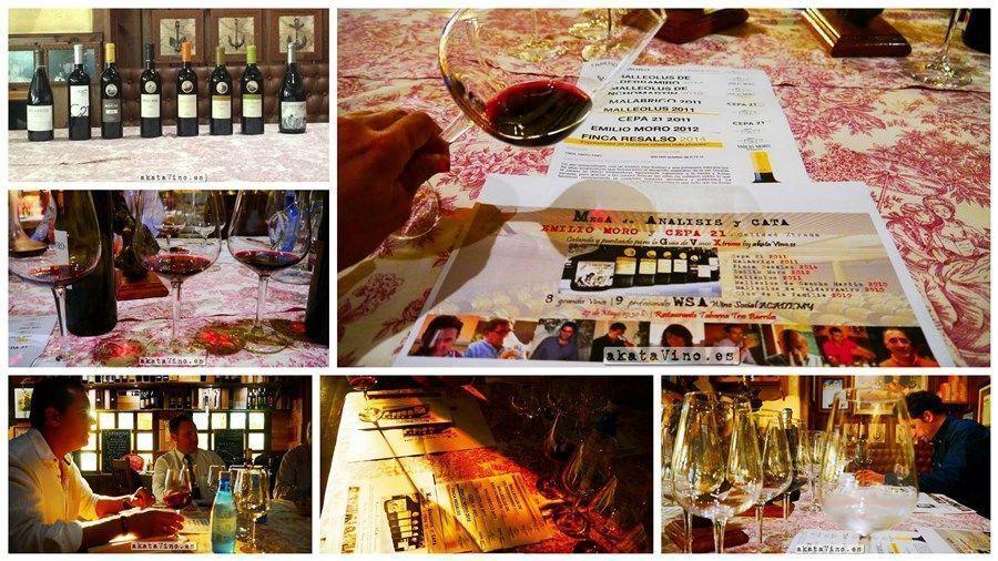 Collage Cata Bodegas Emilio Moro Cepa 21 Guia de Vinos Xtreme © akataVino.es