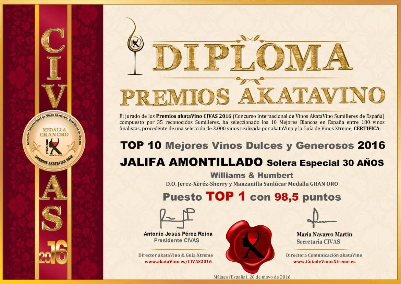 Jalifa Amontillado Williams Humberts TOP 1 Mejores Dulces y Generosos España 2016 © akataVino.es (2)