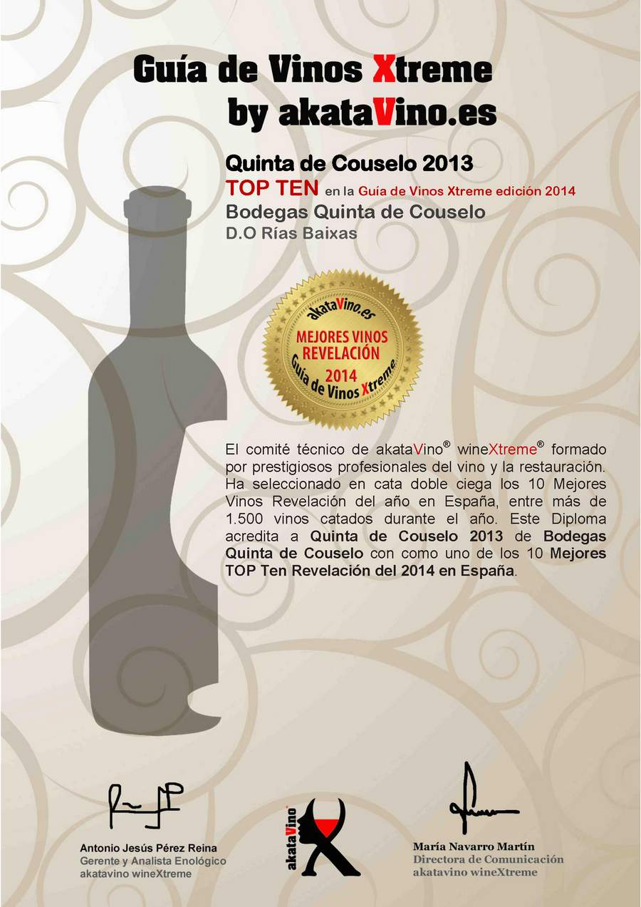 Quinta de Couselo 2013 Los 10 Mejores Vinos Revelación de España. Top Ten Revelación Guía de Vinos Xtreme 2014_Página_08