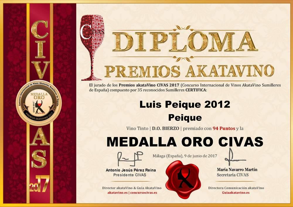 Luis Peique Diploma ORO CIVAS Premios AkataVino © 2017 (85)