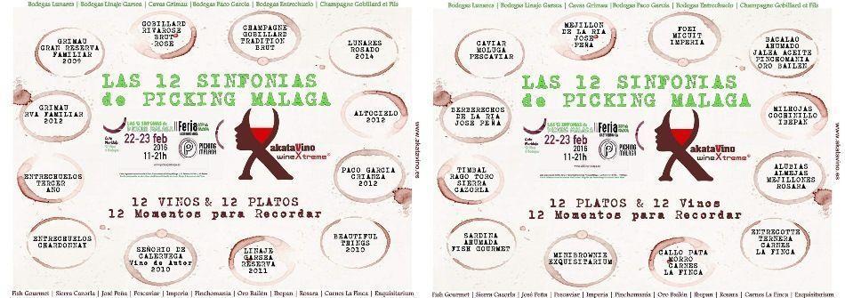Mantel de Cata 12 Sinfonias de Picking Malaga Vinos y Platos © akataVino.es 950