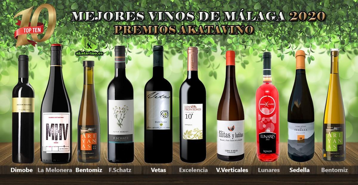 Los 10 Mejores Vinos de Málaga Premios AkataVino 2020 | TOP 10 Vinos de Málaga