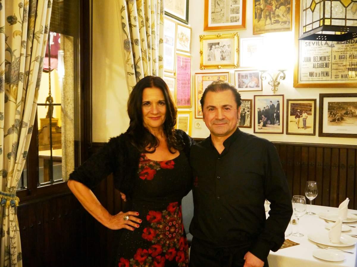 María Navarro (akataVino) y Tomás Mayo (Rest. Pedro Romero)