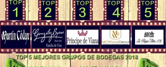 TOP 5 Mejores Grupos Bodegueros del año 2018 © AkataVino.es