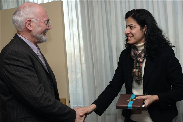 Jean-Louis Tourenne, Président du Conseil général d'Ille-et-Vilaine et Ayla Akat Ata, avocate à Diyarbakir et Députée de Batman, le 25 janvier 2008 - Photo (c) Gaël Le Ny