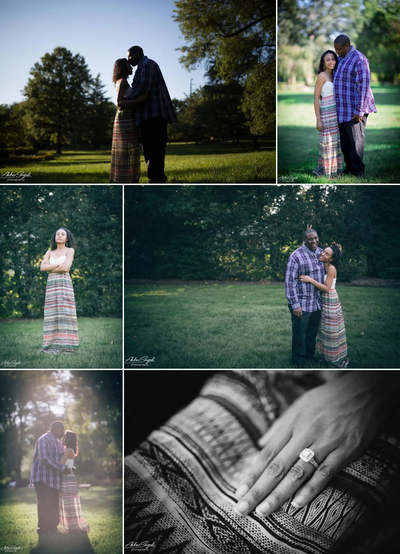Avon and Tracie - Sherwood Garden Engagement Session 3