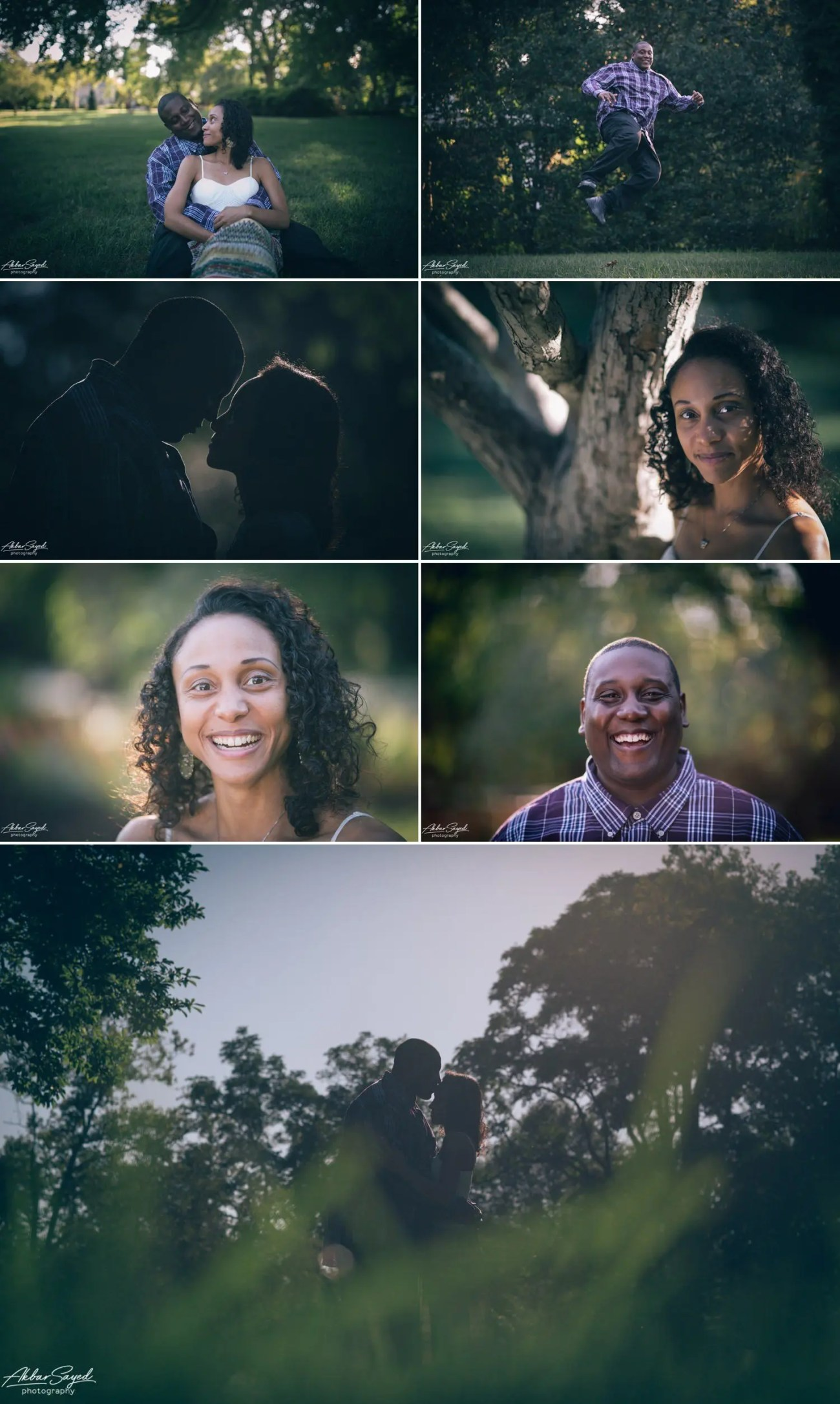 Avon and Tracie - Sherwood Garden Engagement Session 4