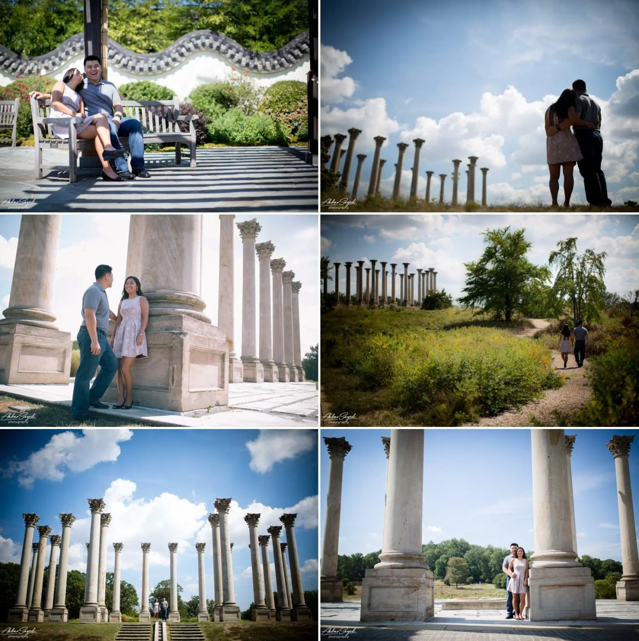 Andrea and Thuan - National Arboretum Engagement Shoot 7