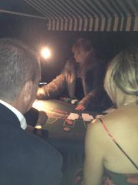 wedding anniversary casino hire