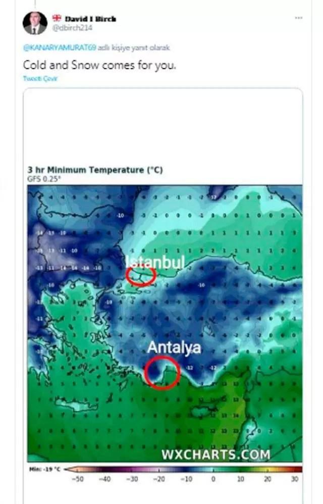 antalya'ya sibirya soğukları ve kar yağışı geliyor
