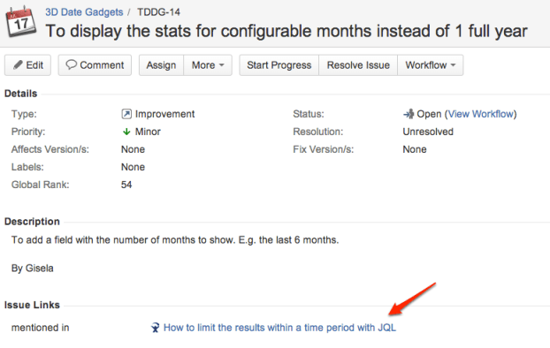JIRA mentions