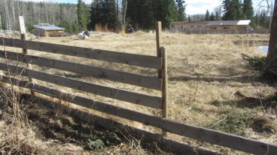 Fence - being repaired