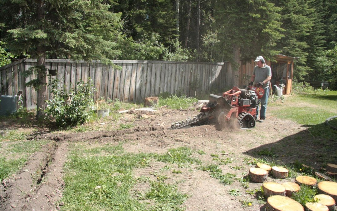 Trenching and polypipe