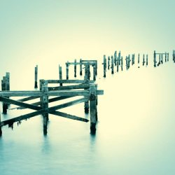 Swanage Pier - Teal Effect.