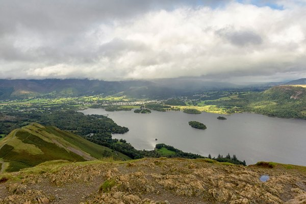 From Catbells over Derwent water towards Keswick