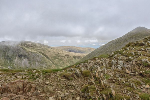 Catstye Cam and Whiteside from Swirral Edge, Helvellyn