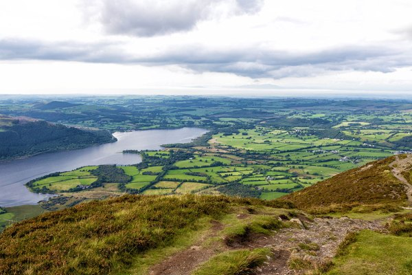 Looking down over Bassenthwaite Water from Ulla Pike Summit