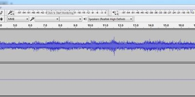 Open the soundtrack in Audacity