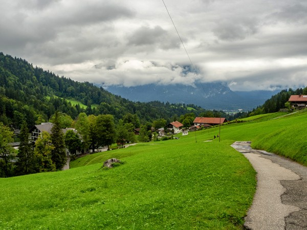 Path down from Eckbauer