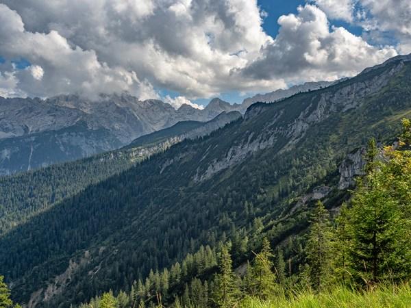 Looking back towards the Alpsitz from Kreuzeck