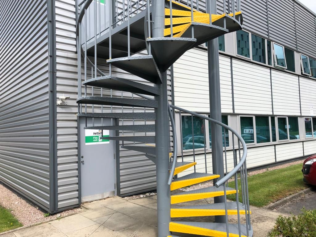 Painting of Fire Escape Staircase for Hettich Salford Quays
