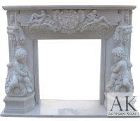 Angel Marble Fireplace Mantel