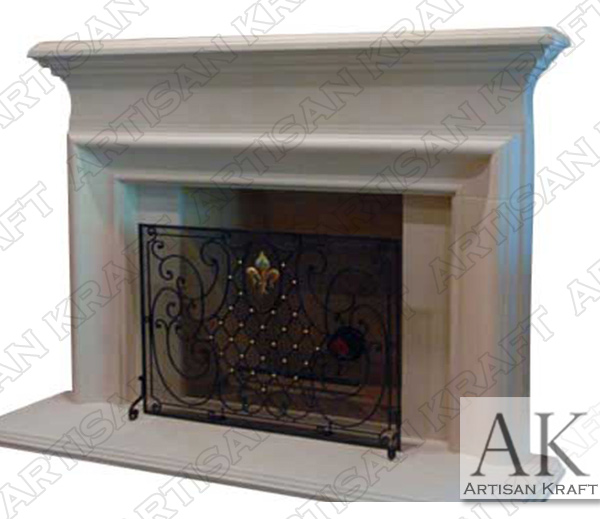 Clermont Cast Stone Fireplace Mantel  Cast Stone Fireplace