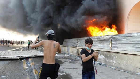 تظاهرات در عرق به خشونت کشيده شد