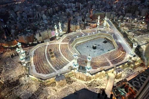 mekah masjidil haram petang hari