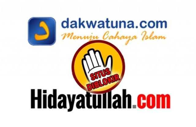 Innalillah, Dakwatuna dan Hidayatullah Diblokir Pemerintah