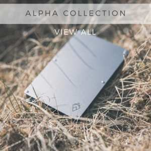 AKIELO ALPHA Collection RFID blocking credit card holder wallet pop up with Money Clip