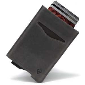 Slate Grey RFID blocking credit card holder wallet pop up leather card holder like Andar Pilot Wallet