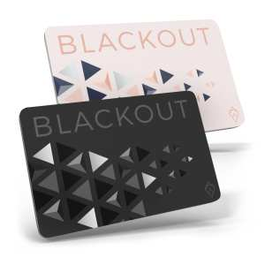 Black and Pink Blackout Card Ultra Thin RFID Blocking Card RFID Card Protector for your Wallet or Purse