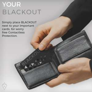 Black Blackout Card Ultra Thin RFID Blocking Card RFID Card Protector for your Wallet or Purse