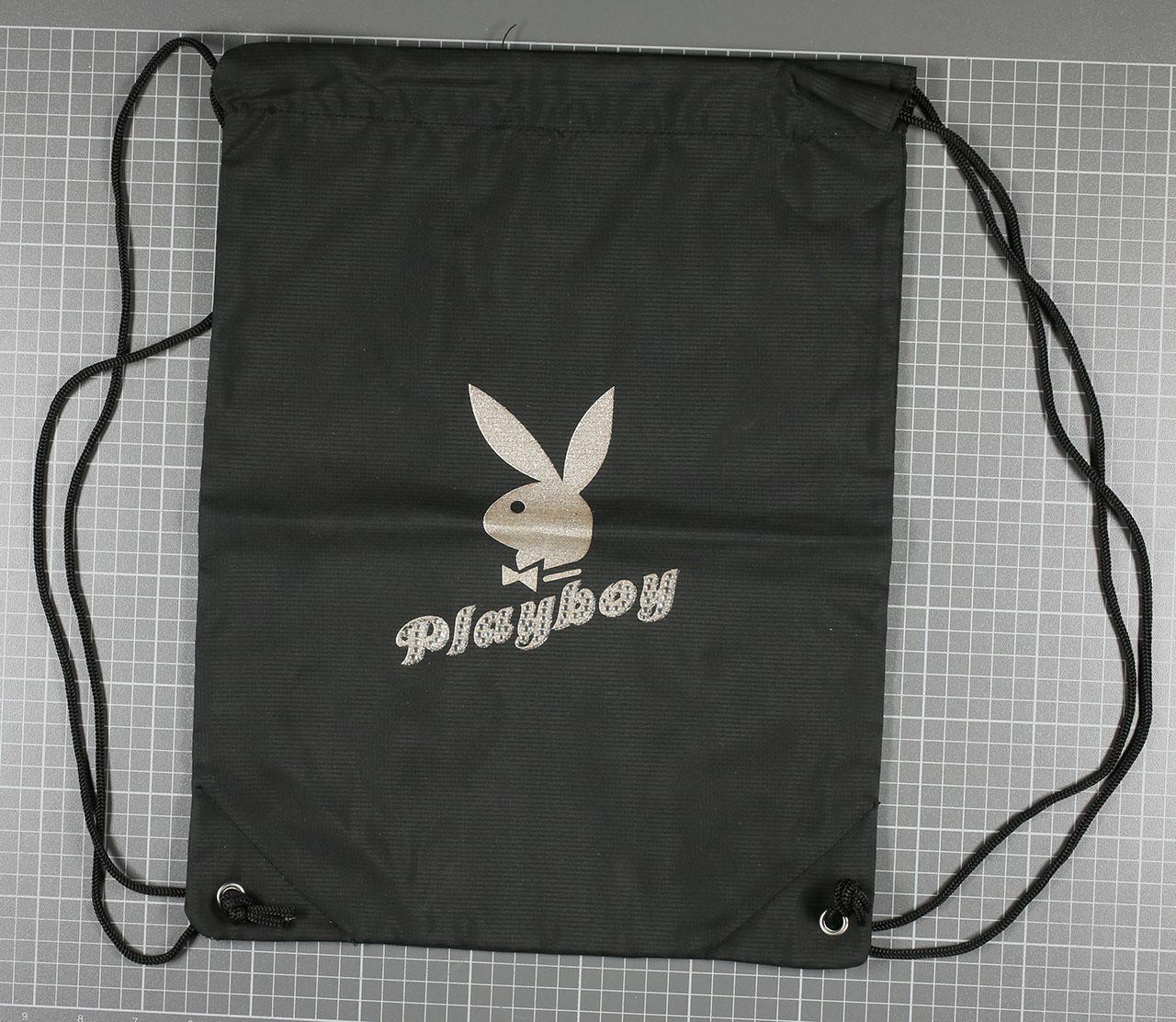 Sac à dos tissus Noir Petite Tête, Playboy-0