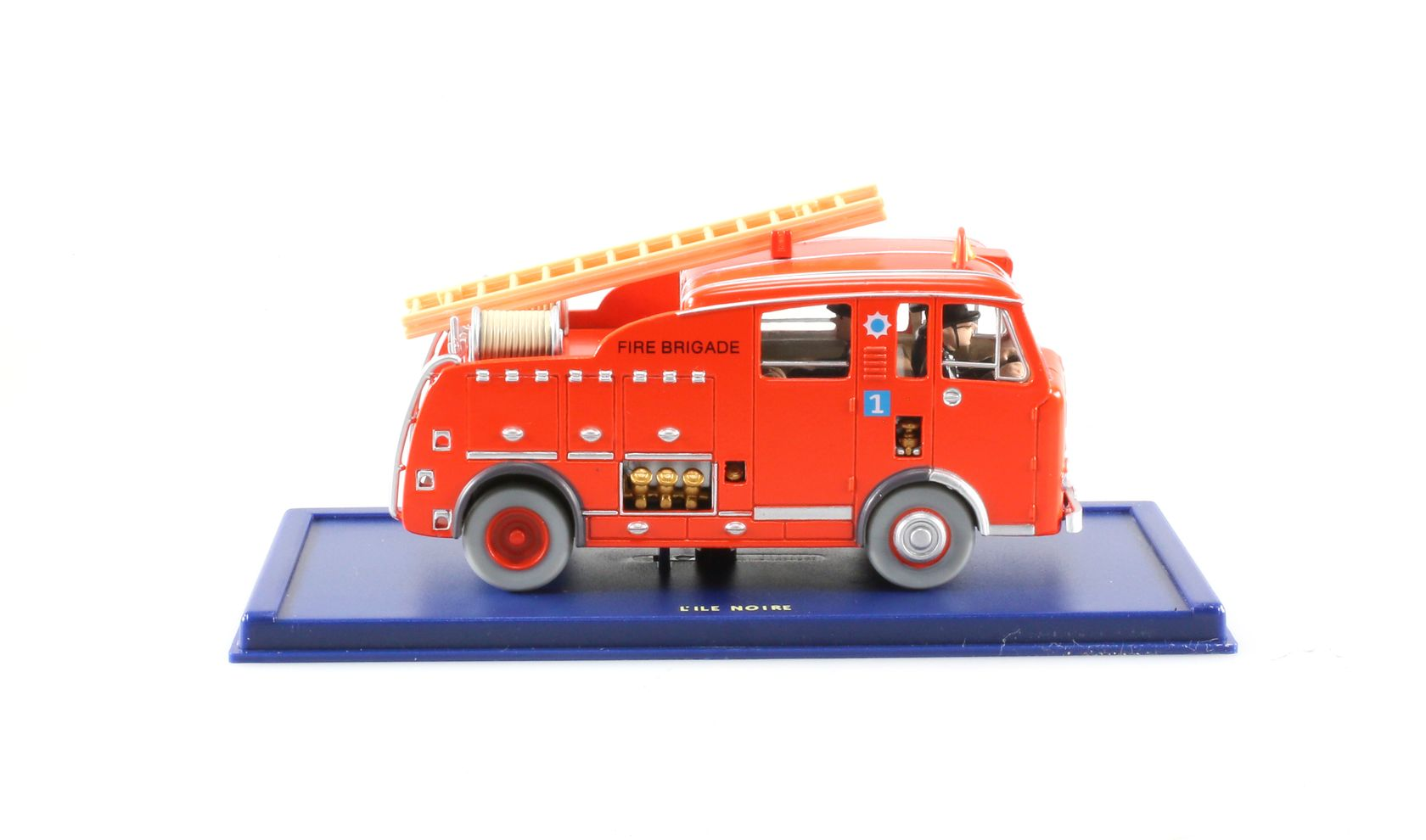 Le camion des pompiers, Dennis F101, L'île noire, Années 50, 1/43