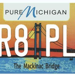 Plaque d'immatriculation américaine Pure Michigan (The Mackinac Bridge)