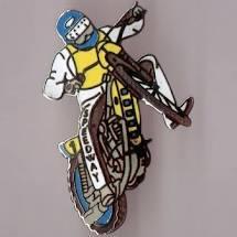 Moto de cross jaune