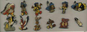 Ensemble de 12 pin's Yakari