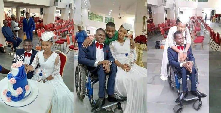 Nigerians react as woman marries a man in a wheelchair in Lagos
