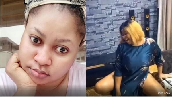 Joke - Nollywood Actress, Joke Jigan Causes Commotion on Social Media For twerking Half n*ked | Video