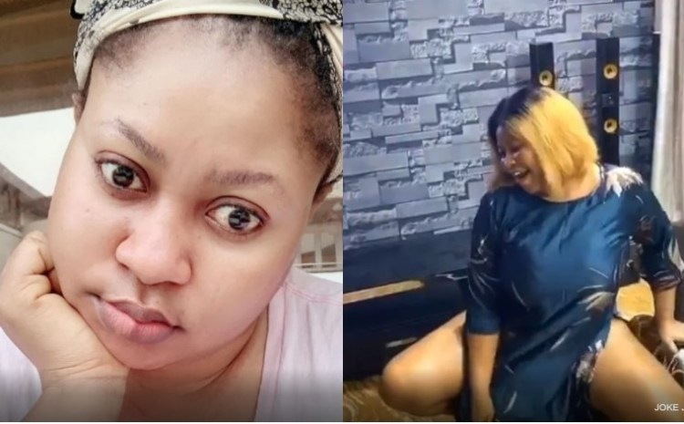 Nollywood Actress, Joke Jigan Causes Commotion on Social Media For twerking Half n*ked | Video